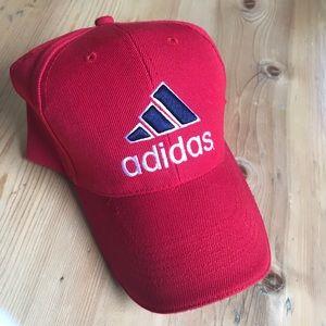 Adidas red baseball cap NWOT
